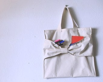 Deluxe Lined Purse - Canvas Bow Tie Royal Blue Pockets - Fancy Market Tote - Tardis Blue Cotton Lining - Feel Good Bag