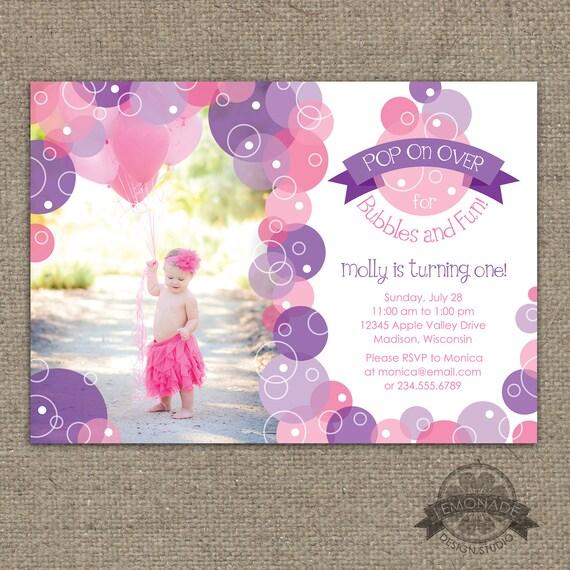 Bubble invitation bubbles birthday party invite pop on over il570xn filmwisefo
