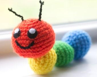 Caterpillar Stuffed Animal - Choose Your Colors - Custom Made Caterpillar