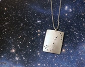 Scorpio zodiac constellation sterling silver necklace October 23 - November 21 astrology