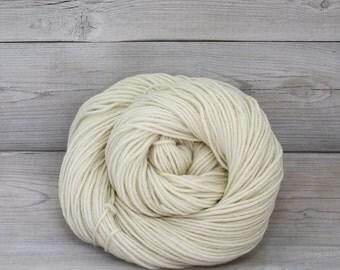 Calypso - Undyed Superwash Merino Wool Light Worsted DK Yarn - Colorway: Natural