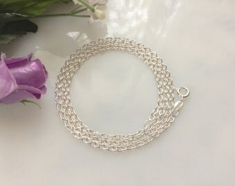 20 Inch Silver Filled Cable Chain Necklace, Jewelry Supply