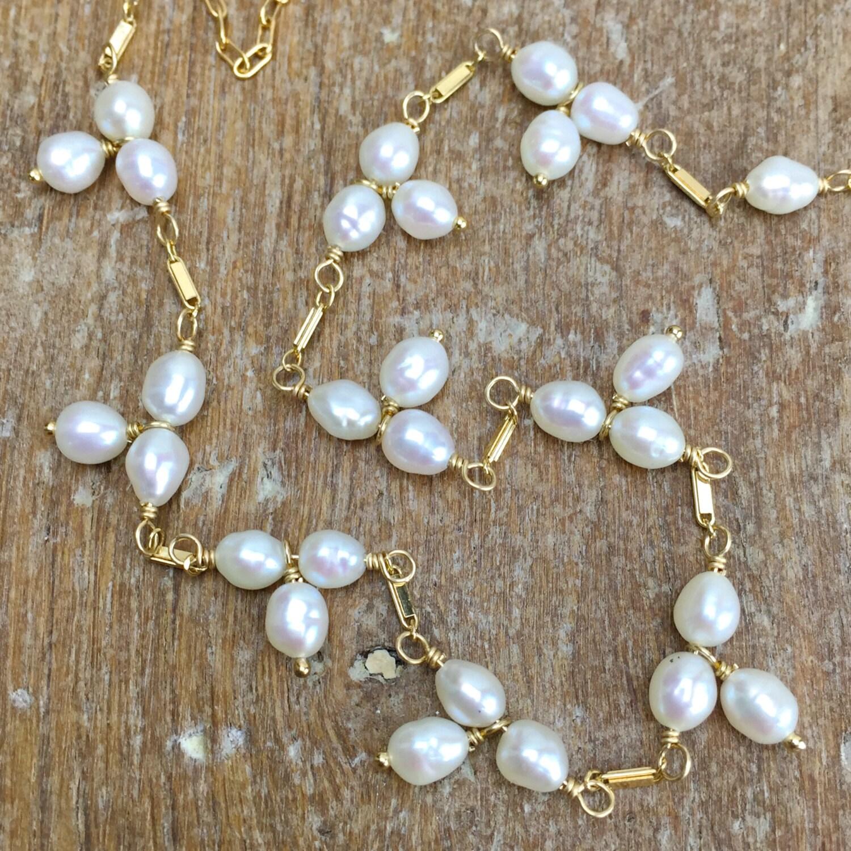 Keshi Pearl Necklace: Chandeliers & Pendant Lights