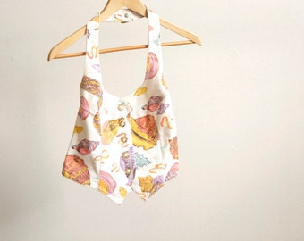 SEASHELL vintage TANK top Georges Marciano summer vibe