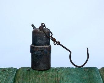Italian miner's lamp or countryside flashlight