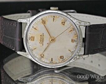 vintage doxa watch - fine swiss watch - 1950's - doxa cal. 103