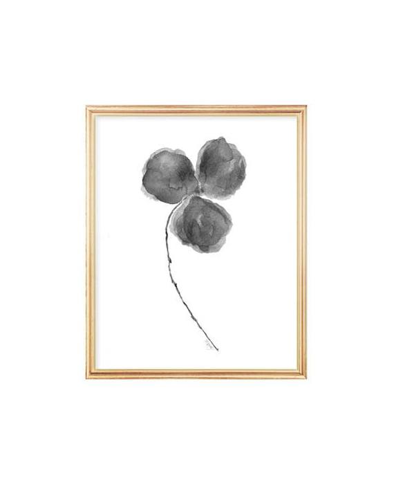 Black Orchid Print, 8x10 Watercolor