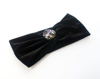 Black Velvet Turban Retro Accessories Hairbands