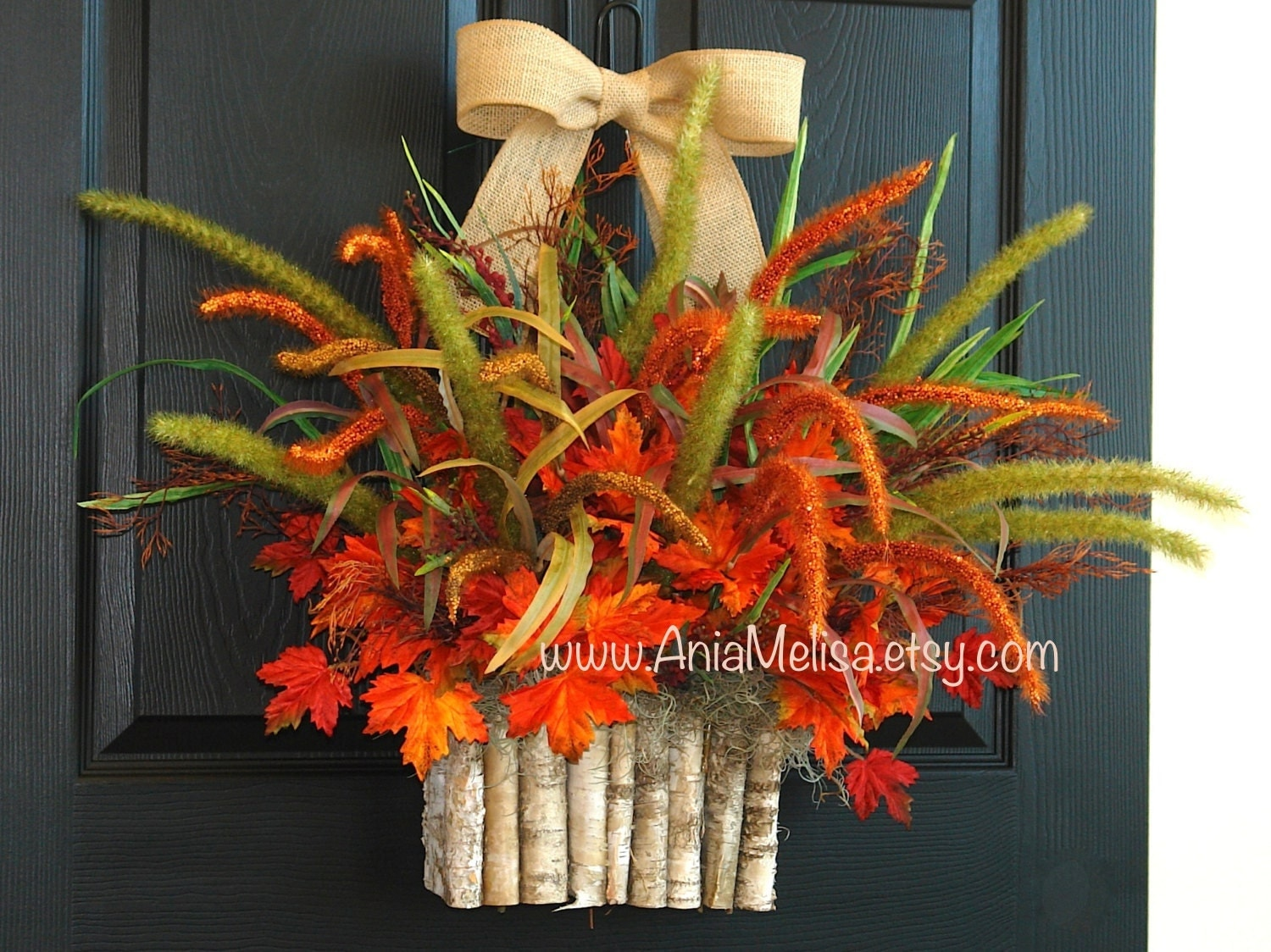 Fall Wreath Autumn Wreaths For Front Door Wreaths Home: fall autumn door wreaths