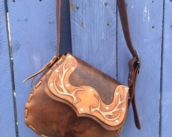 Medium Handtooled Leather Handbag
