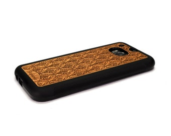 HTC One M8 Case Wood Damask Personalized Custom, HTC One Case Wood HTC One Case, Htc One Wood Case Wood Htc One M8 Case Htc One M8 Wood