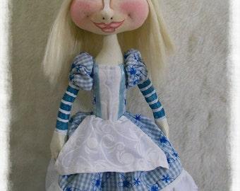 Cloth Doll - Cloth Art Doll - Art Doll - OOAK Doll - Wonderland Doll - Textile Doll - Soft Doll - Alice in Wonderland - Fabric Doll
