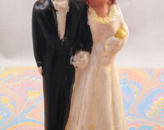 Then Comes Marriage: Vintage Ceramic Wedding Cake Topper
