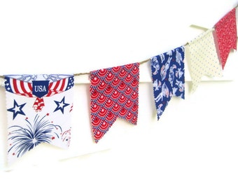 USA Bunting Banner, 4th of July Bunting Banner, Stars & Stripes Banner, Patriotic Bunting, Americana Decor, Patriotic Photography Prop, USA
