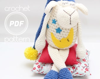 Lamb Crochet Pattern- Cloud Nine  PDF