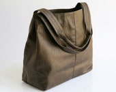 Vegan Leather Tote - Oversized Bag - Distressed Brown Leather Vegan Purse - Women Bag - Weekender Bag