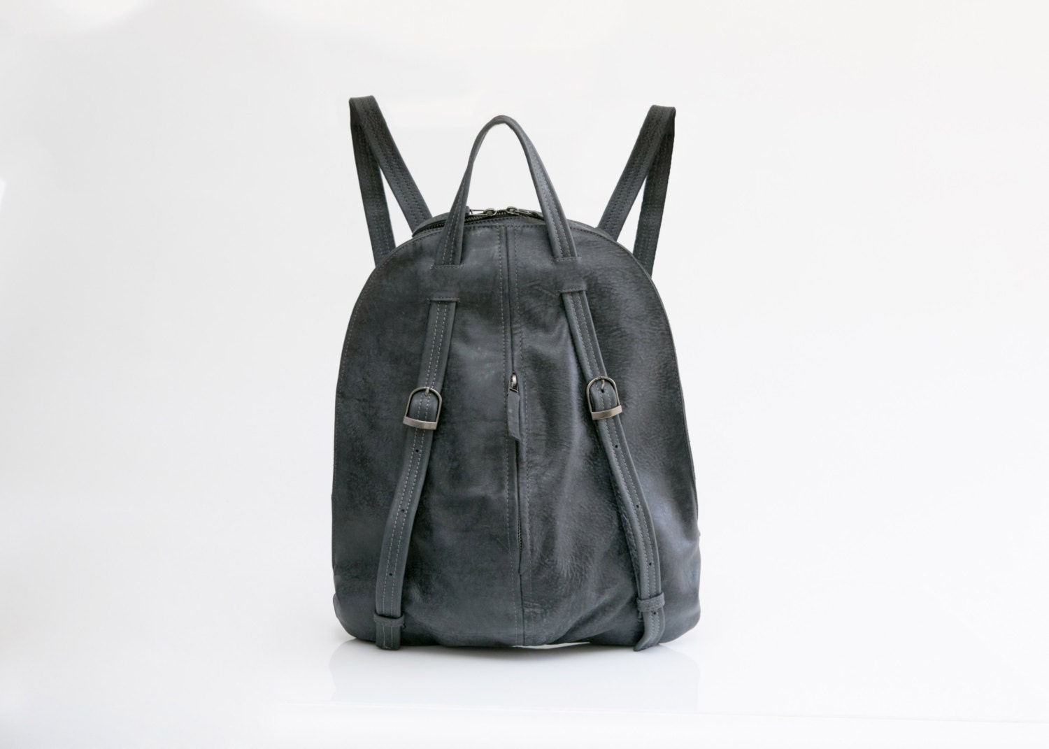 084f63cc0c Charcoal Gray leather Backpack Women Backpack Purse