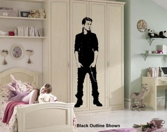 New - Justin Bieber 6ft Tall - Wall Art Sticker