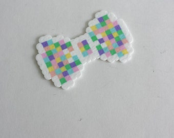 Pastel Pixel 8 Bit Bows - Hair Bows or Bow Ties