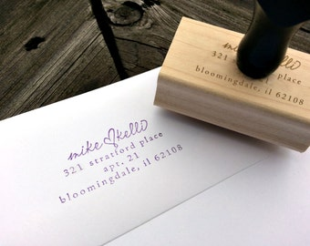 Personalized Address Stamp - Personalized Wedding Gift