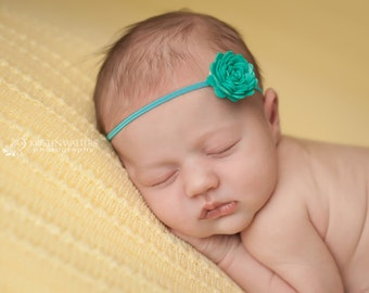 FREE SHIPPING! Teal Headbands, Teal Baby Headband, Teal Newborn Headband, Baby Headband, Baby Headbands, Photography Prop