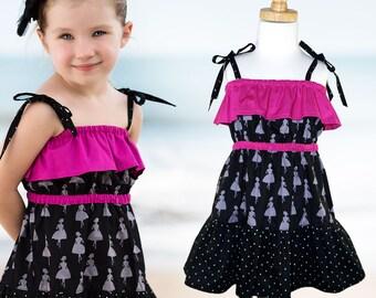 Childrens sewing pattern PDF, Girls Dress pattern pdf, girls sewing pattern pdf, easy sewing pattern, girls clothing pattern, kids, GYPSY