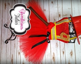 Firefighter Tutu dress costume| Firefighter tutu| Firefighter costume| Newborn- size 10 child listing