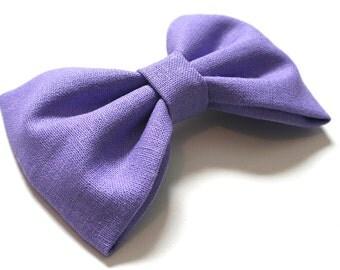 Purple Hair Bow - Purple Bow Tie - Purple Bows - Lavendar Hair Bow - Lavendar Bow Tie - Purple Bow