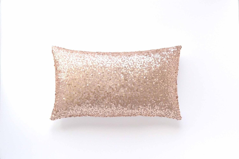 Blush Lumbar Pillow Cover Blush Taffeta Sequin By