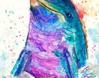 Dolphin Spirit animal art print by Ellen Brenneman
