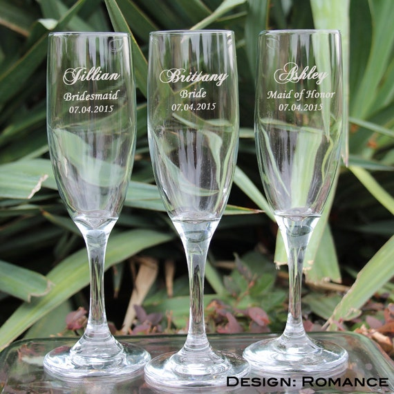 glasses custom engraved champagne flutes mr and mrs wedding toasting