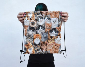 LAST ONE - Cats drawstring backpack