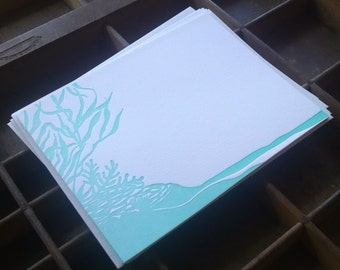 Letterpress Reef Note Cards - Set of 6