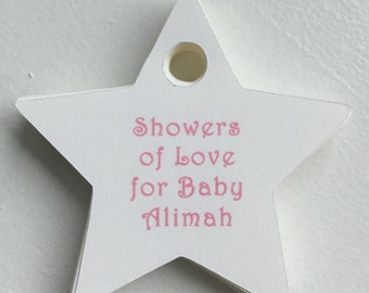 Twinkle Twinkle Little Star Tags - Baby Shower Tags - Set of 20 - Personalized Tags