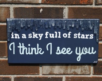Sky Full of Stars Coldplay Canvas