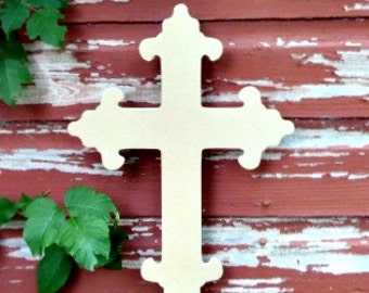 Unfinished MDF Wooden Cross #17