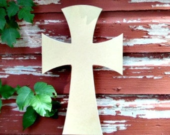 Unfinished MDF Wooden Cross #64