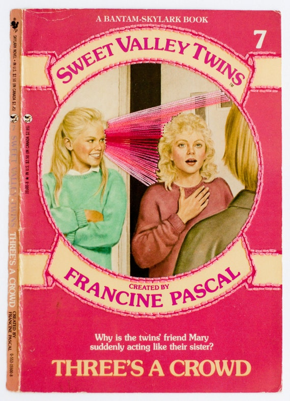 Embroidered Book Cover - Sweet Valley Twins: Three's A Crowd