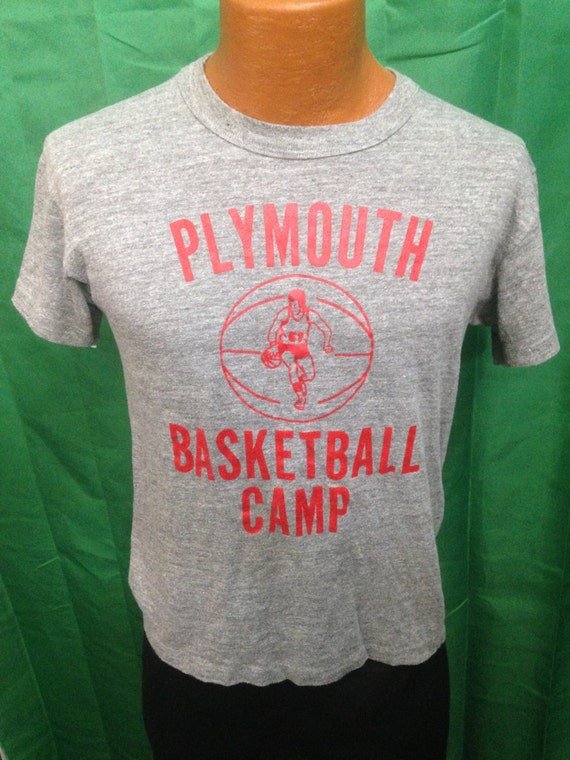 vintage plymouth basketball camp tshirt size by