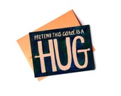 Pretend Hug Single Card: Blank Inside