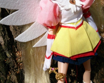 """Eternal Sailor Moon with detachable wings. Clothing for barbie and other 11 1/2"""" fashion dolls (free US shipping)"""