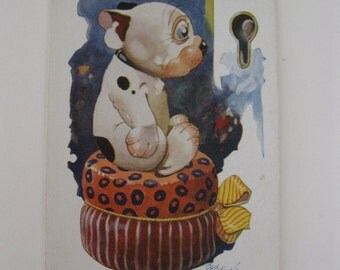 G Studdy - BONZO - Artist Signed Post Card - I Wish I Could See You - Series #1518 - 1920s - Used