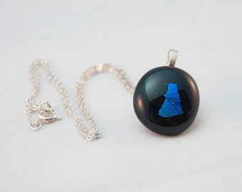 Dichroic Dalek fused glass necklace
