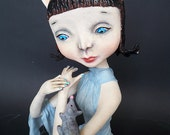 """OOAK Art doll """"The CAT- The MOUSE"""""""