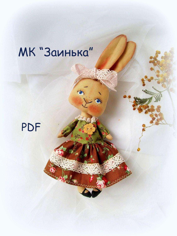 Pdf sewing tutorial rabbit doll pattern
