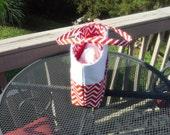 Red & White Bucket Bag