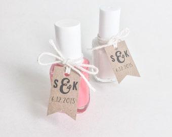 Kraft Brown Favor Tags. Nail Polish Tags. Custom Personalized Mini Favor Tags. Bridal Shower Baby Shower nail Polish Tags. Party Favor Tags
