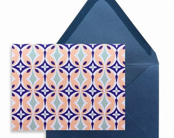 Mexico Tile Print-at-Home Thank You Card with Printable Wedding Dinner Menu Print-ready Place cards and Decorative Table Number Card