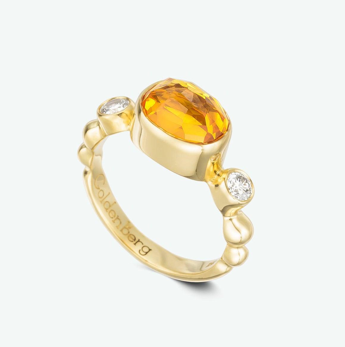 unique engagement ring gemstone engagement ring bezel set
