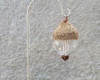 Fairy Garden Light Acorn Cap Lantern Miniature Accessory for Fairy Gardens or Terrariums